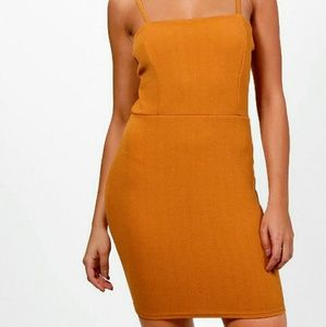 Orange Yellow Boohoo Bodycon NWT